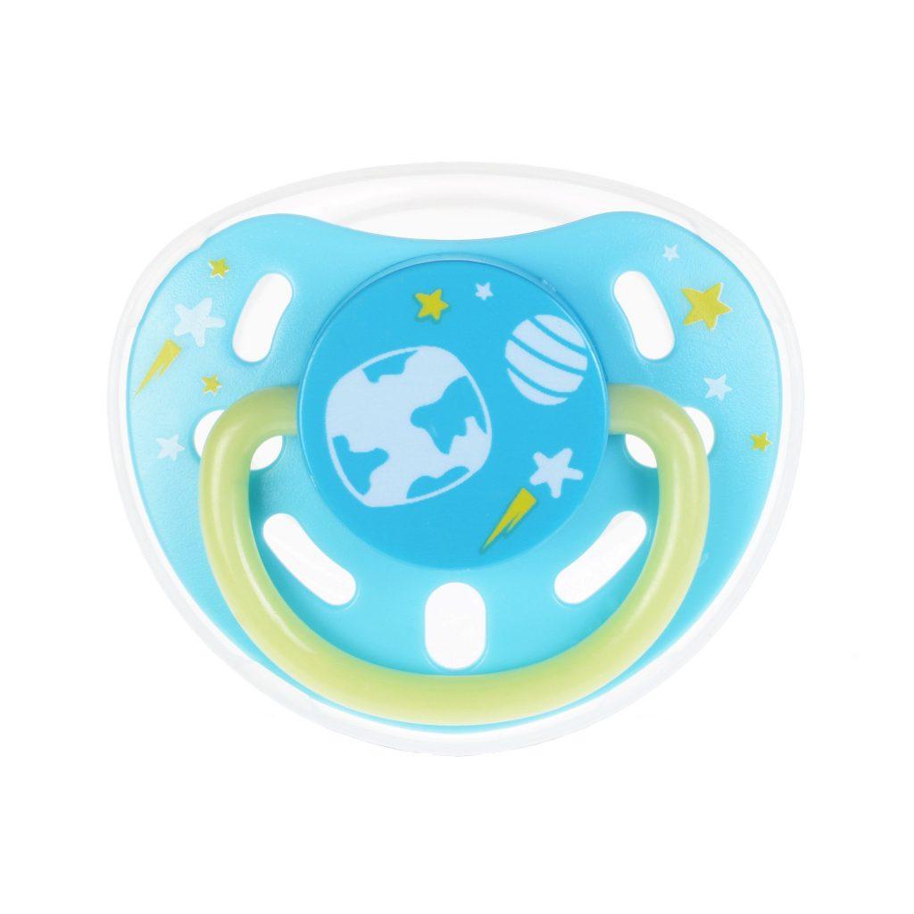 Kidsme Glow In The Dark Pacifier Medium Greendot Baby